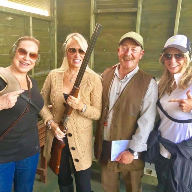 Leslie and Duncans At Shooting Range